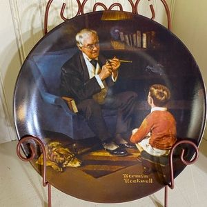 Norman Rockwell The Tycoon plate by Knowles.